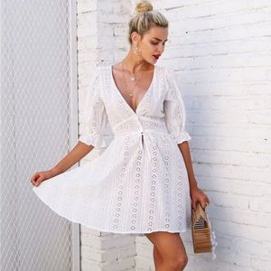 For Love and Lemons Breezy Cotton Mini Dress